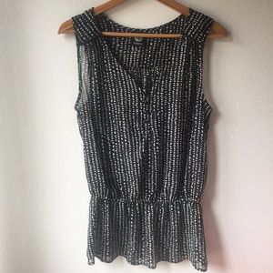 Bobeau Sheer Dot Tank